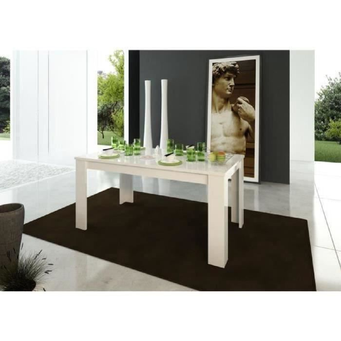 Milano table extensible 160 210cm blanc laqu achat vente table manger - Table blanc laque extensible ...