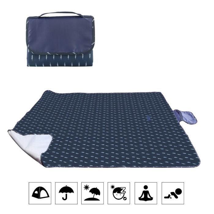 bedee Couverture de Pique-Nique Imperméable pour 2-6 Personnes Tapis Pliable, Imperméable Anti-Sable Résistant à l'humidité Plage