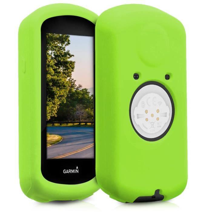kwmobile Housse GPS vélo - Accessoire pour Garmin Edge 1030 - Protection boitier navigateur - Étui en Silicone Vert