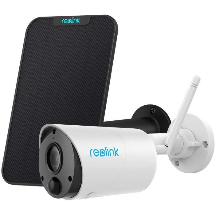Reolink Argus Eco avec Panneau Solaire 1080P IP Caméra Surveillance sur Batterie Caméra Solaire Extérieur WiFi sans Fil Audio Bidire