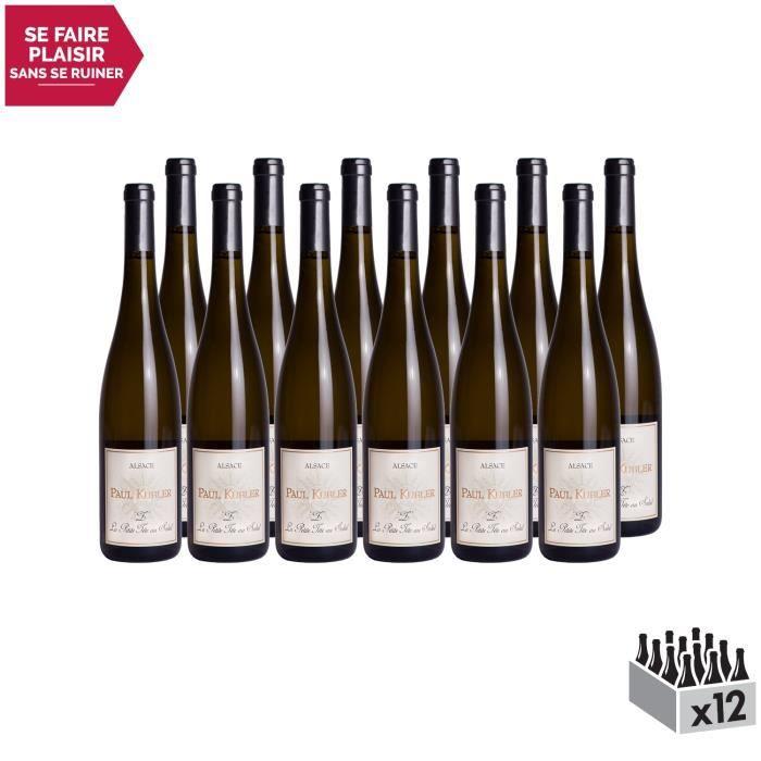 Alsace Z La Petite Tête au Soleil Blanc 2014 - Lot de 12x75cl - Domaine Paul Kubler - Vin AOC Blanc d' Alsace - Cépage Sylvaner
