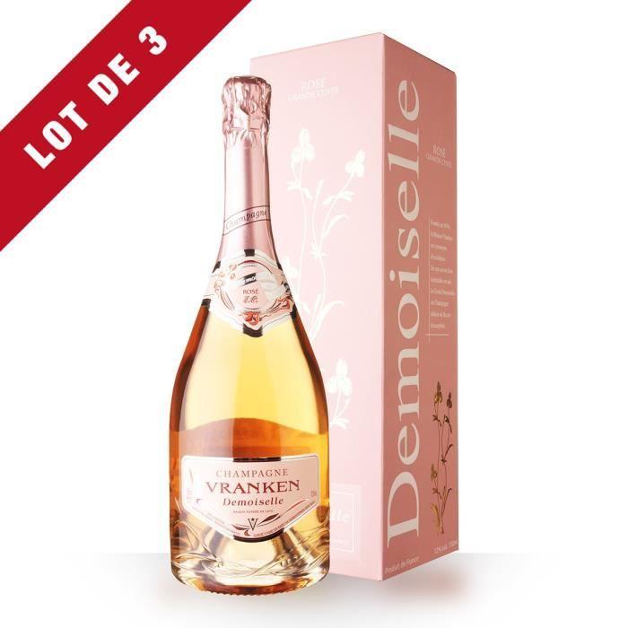 3x Demoiselles Grande Cuvée Rosé Brut - Etui - 3x75cl - Champagne