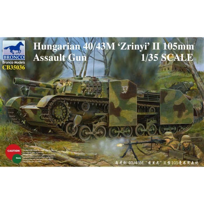 Maquette Militaire 1-35 hongrois 40 - 43M Zrinyi II 105mm Assault Gun CB35036