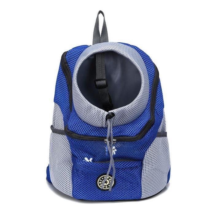 Sac de transport,Sac à dos frontal pour chien chat Animal domestique, sac de voyage pour petits chiens, sac de - Type Blue-S