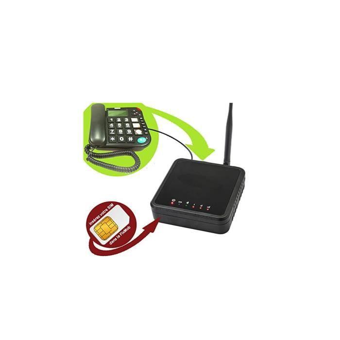 MLA FixMob Innovation Mobiho-Essentiel - Transformez Votre combiné Fixe en Mobile en branchant Simplement à la Fixmob - DEBLOQUE Tou