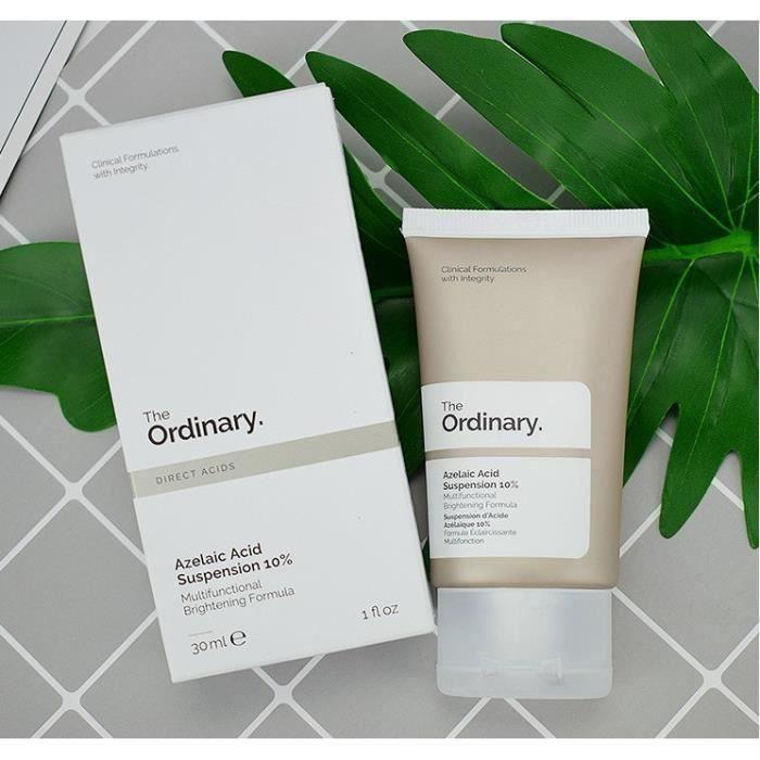 The Ordinary Acide Azélaïque Suspension Acné Acide Azalée Rétrécissement Pores nettoyage en profondeur antioxydant efficace