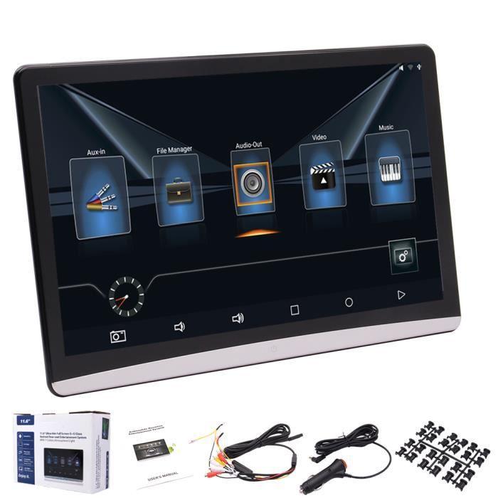 11,6 pouces HD IPS Android 8.1 écran tactile capacitif Multimédia Moniteur appuie-tête arrière de voiture-siège MP5 Système de diver