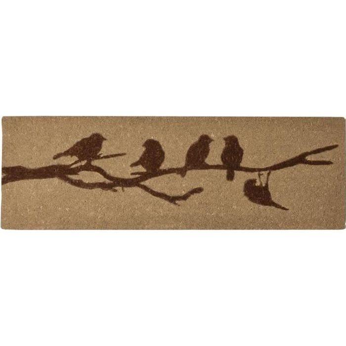 Esschert Design tapis de porte 40 x 120 cm fibre de coco/PVC marron clair