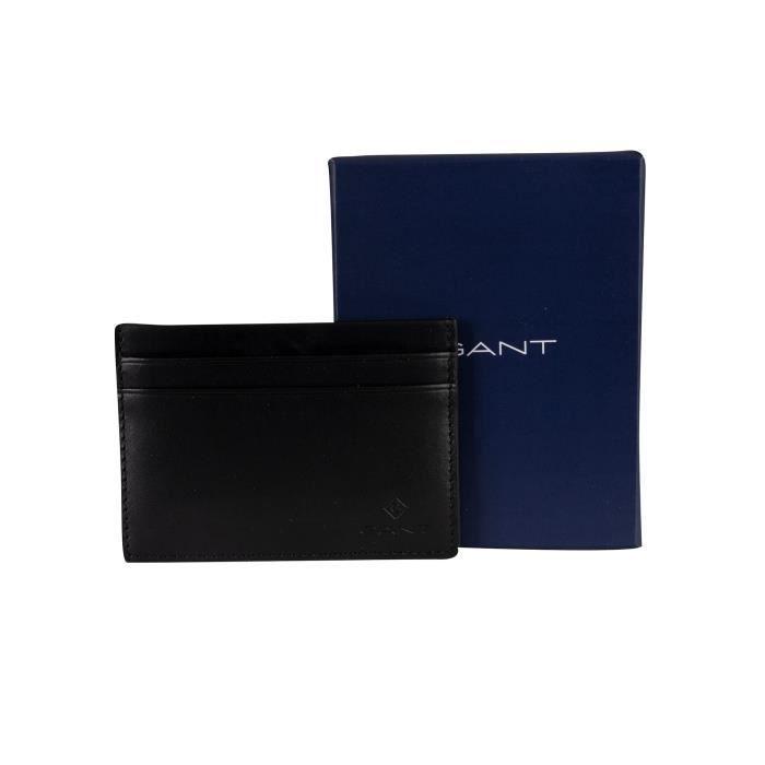 Gant Pour des hommes Porte-cartes en cuir, Noir