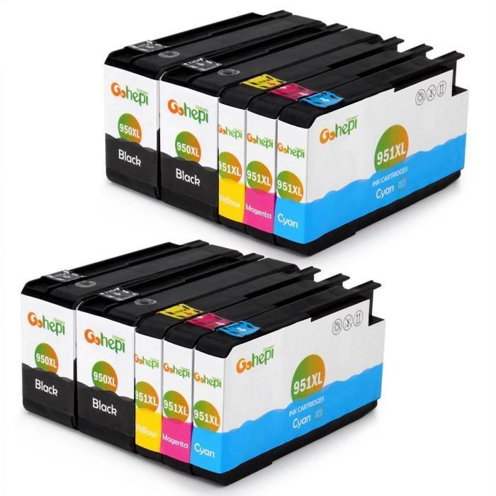 Pack cartouches Compatible HP 950XL/951XL - Noir/...