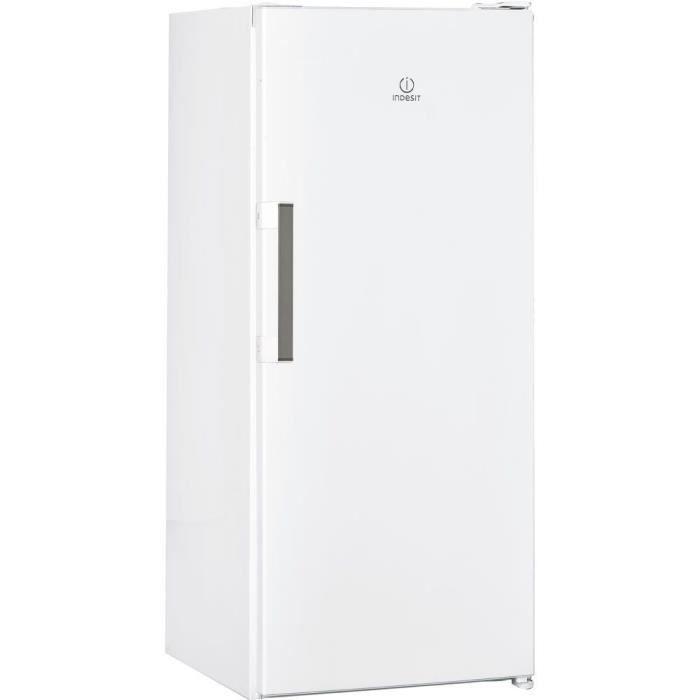 INDESIT SI41W.1 - Réfrigérateur armoire, 262L, 142 x 59,5cm, blanc, A+, Froid statique, éclairage LED