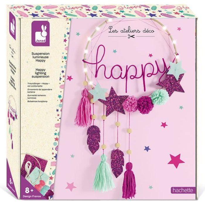 Kit Créatif - Suspension Lumineuse Happy - Les Ateliers Déco - Dès 8 ans