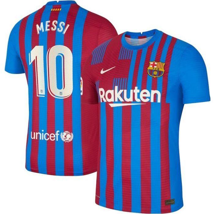 Nouveau Maillot de Foot 10 Lionel Messi Barcelones 2021 2022 Barcelonas Barcas Pas Cher pour Homme
