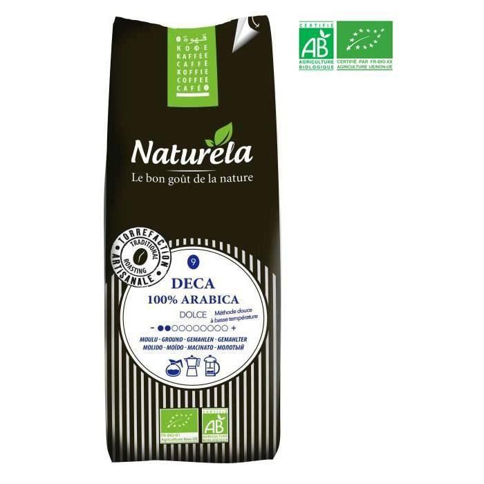 Naturela -250g- Café Deca 100% Arabica Moulu n° 9 Bio