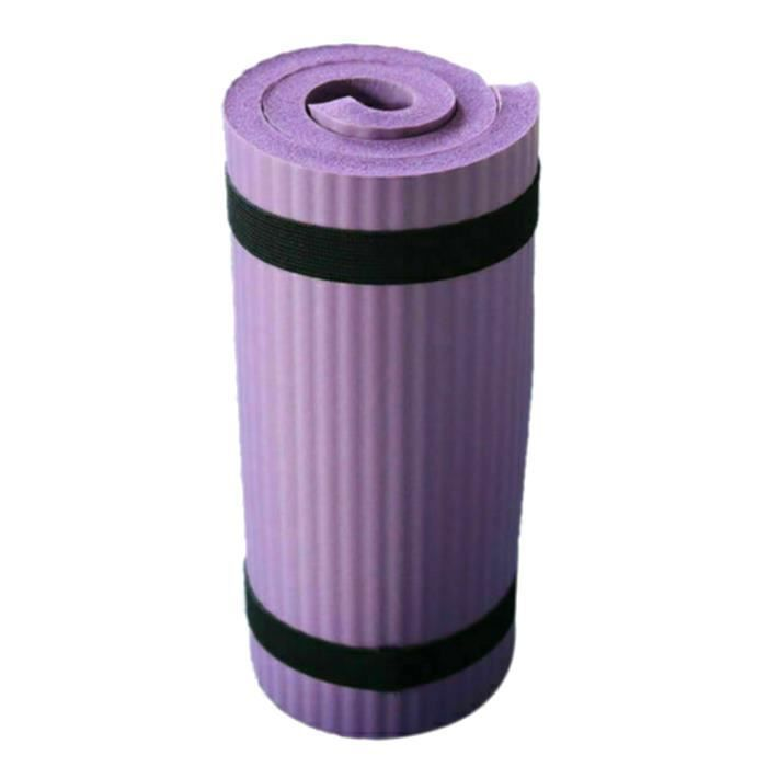 Tapis de Yoga et Fitness, Extra Epais 15 mm, 60x25 cm, Parfait pour des Exercices au Sol Camping Gym Stretching Abdominaux - VIOLET