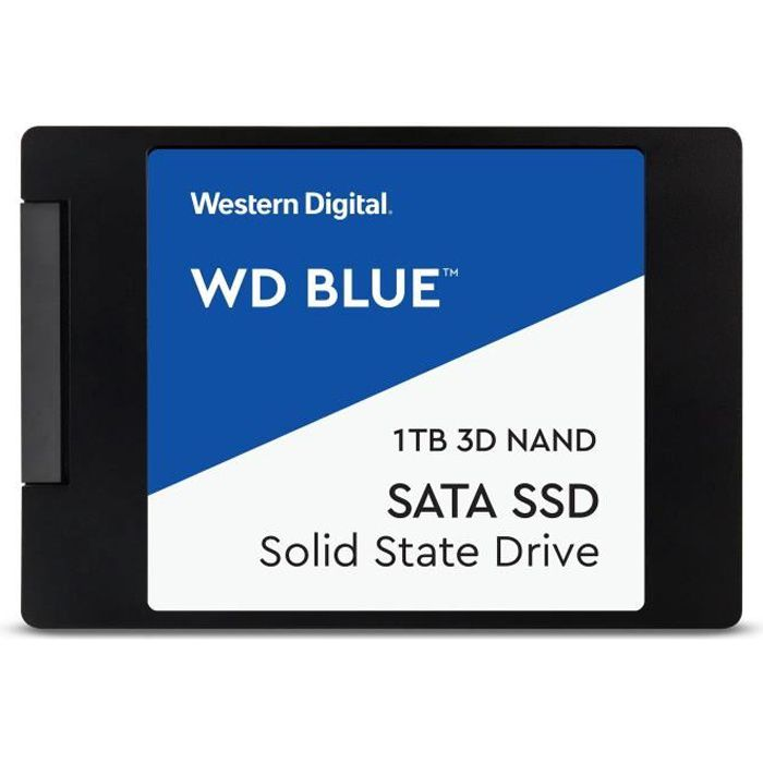 WESTERN DIGITAL Blue 3D NAND SATA SSD WDS100T2B0A - Disque SSD - 1 To - interne - 2.5