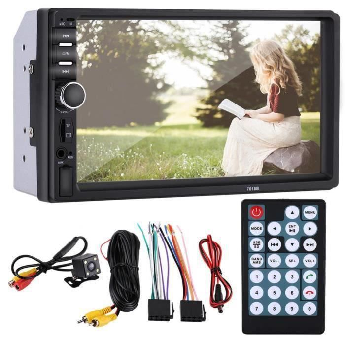 "LT26143-7"" Autoradio Universal 2 Din TFT Écran tactile Lecteur Portable avec Caméra de Recul USB Player Bluetooth Radio Multimedia"