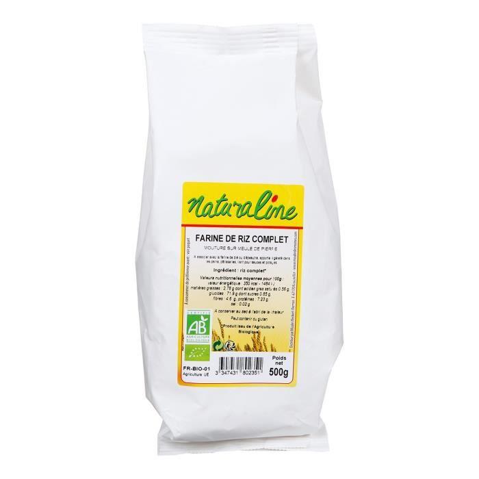 MOULIN DES MOINES Farine de riz complet bio - 500 g