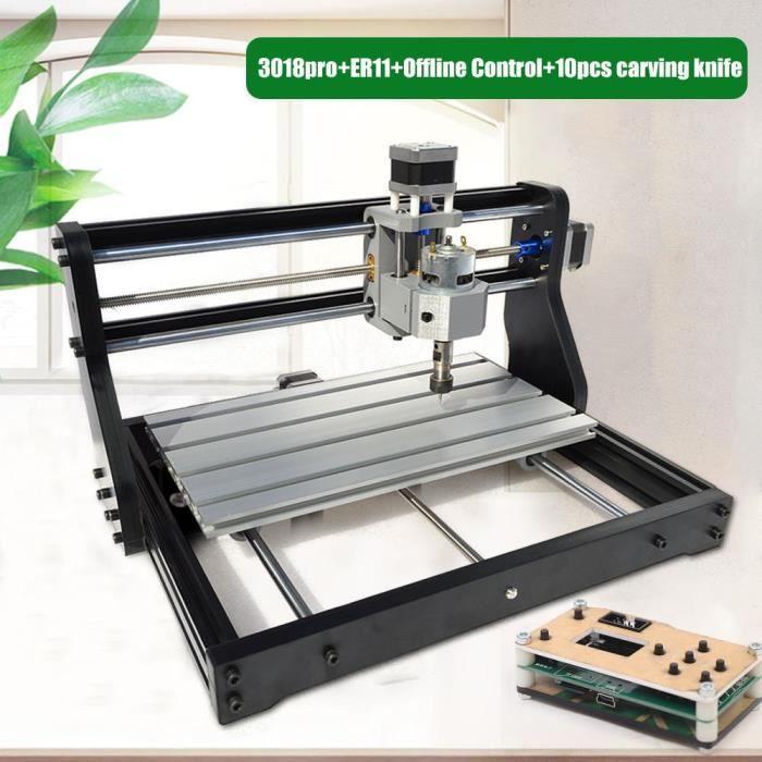 3018 Pro CNC Fraiseuse Routeur bois pvc pcb 5500mw Graveur Laser Machine USB