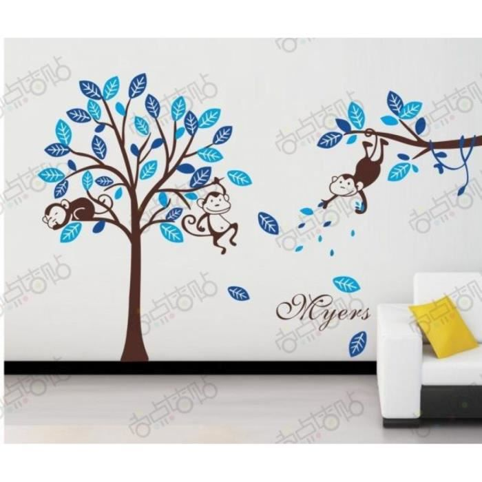 Stickers muraux chambre garcon maison design for Stickers arbre chambre bebe