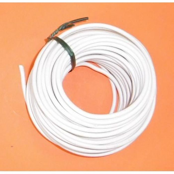 Fil /électrique AUTO SOUPLE 1 mm/² BLANC 10 M