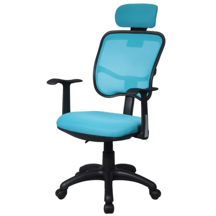 chaise de bureau turquoise achat vente chaise de bureau bleu cdiscount. Black Bedroom Furniture Sets. Home Design Ideas