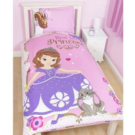 parure de lit enfant sofia the first achat vente parure de couette cdiscount. Black Bedroom Furniture Sets. Home Design Ideas