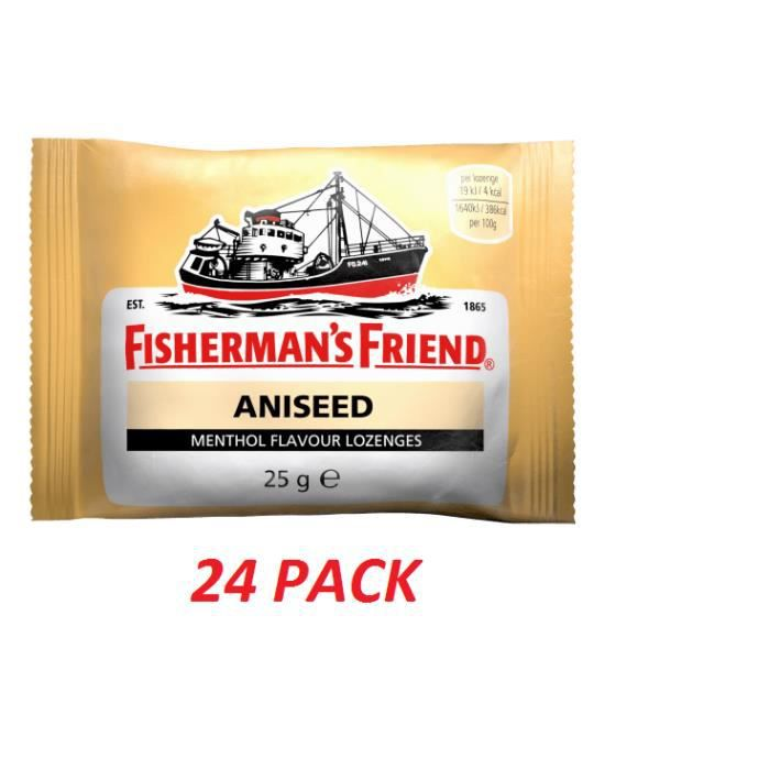 RHUME - TOUX - GORGE Fisherman's Friend Aniseed Lozenges x 25g - PACK O