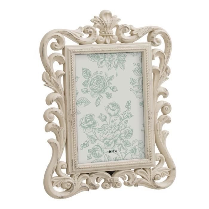 Home Decor Cadre Photo 13x18 Cm Baroque Couleur Creme