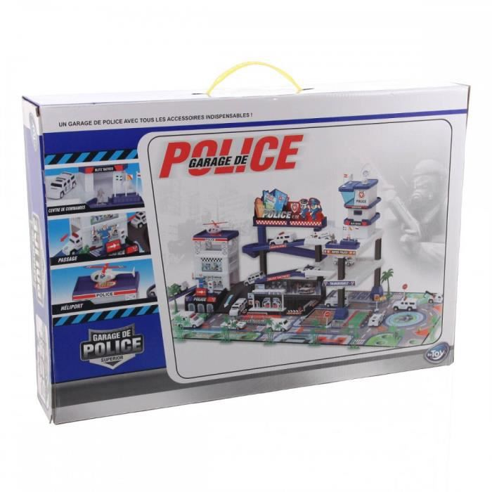 garage police vehicules achat vente univers miniature cdiscount. Black Bedroom Furniture Sets. Home Design Ideas
