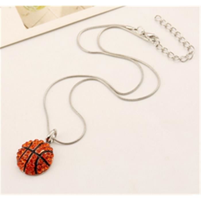 collier homme basket