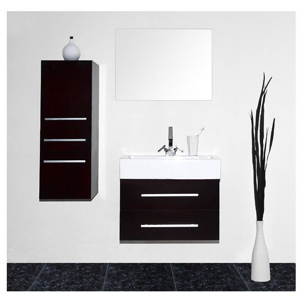meuble salle de bain noir laque. Black Bedroom Furniture Sets. Home Design Ideas