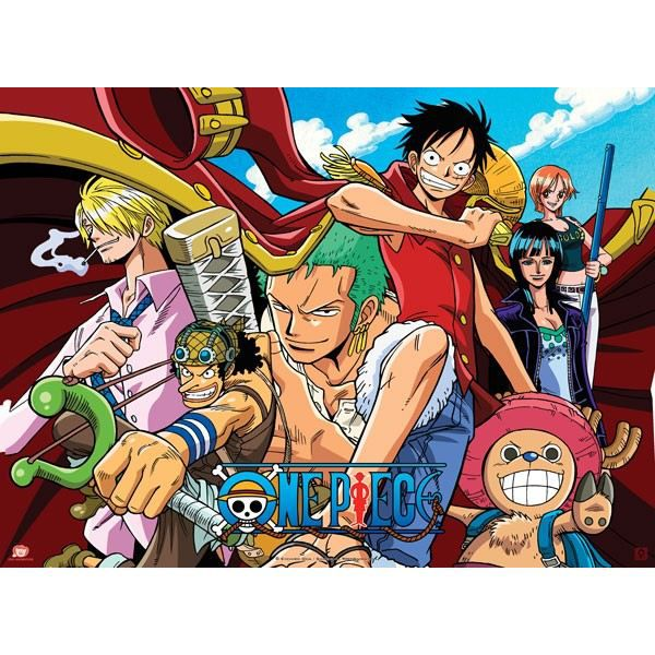 Poster one piece 39 pirates all stars 39 52x38cm achat for Decoration murale one piece