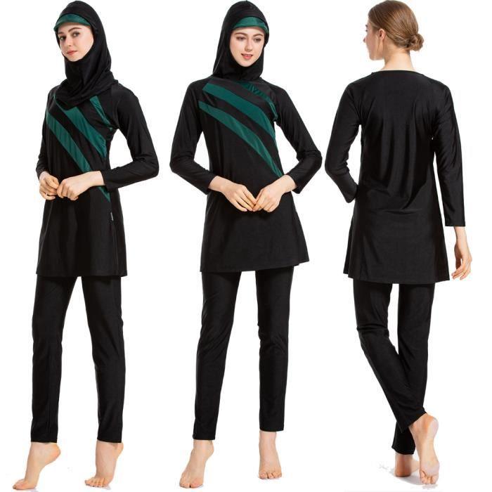 GladThink Musulman Burkini 3-pi/èce de Femmes Ladies Maillots