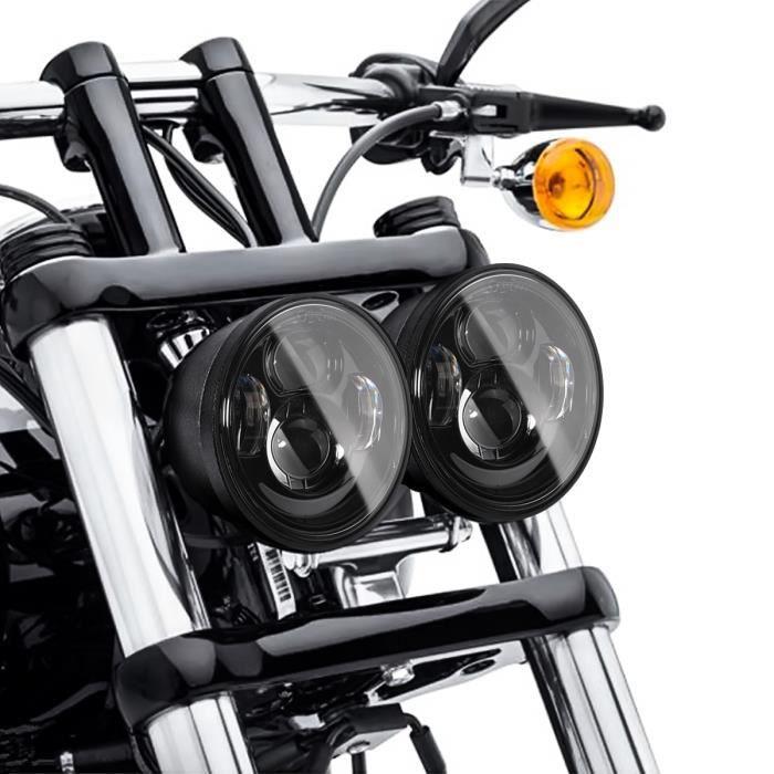 Ox Clignotant universel pour moto avec clignotant Ox Noir teint/é Harley Bobber Chopper