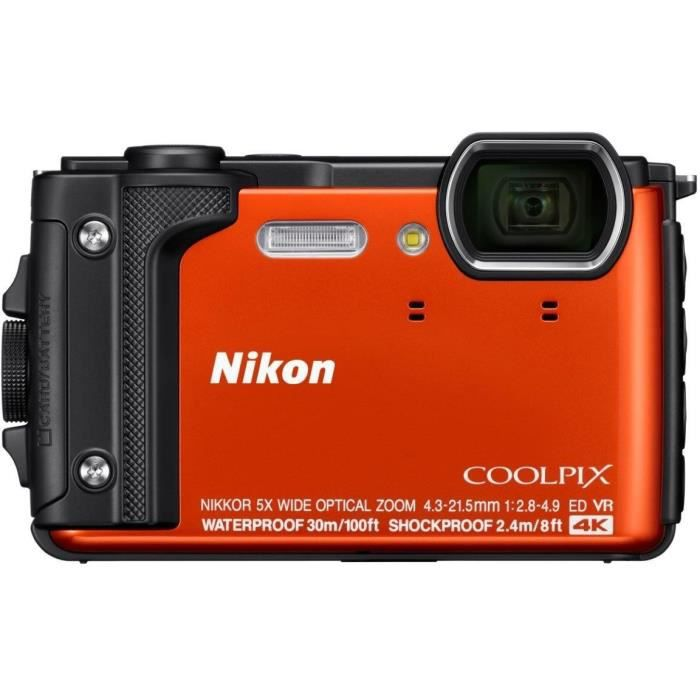 APPAREIL PHOTO COMPACT NIKON COMPACT W300 ORANGE