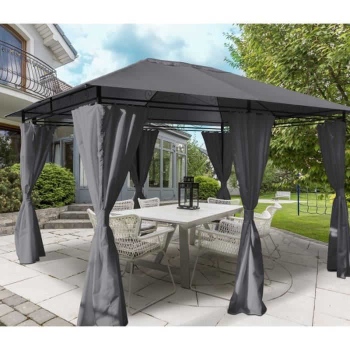 pergola bois 4m x 3m. Black Bedroom Furniture Sets. Home Design Ideas