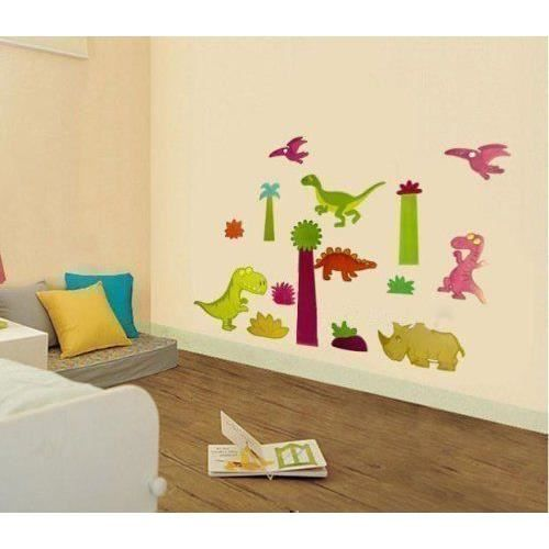 walplus sticker autocollant dinosaure chambre enfant b b. Black Bedroom Furniture Sets. Home Design Ideas