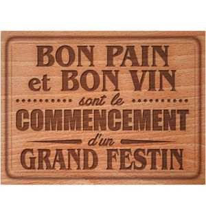 PLANCHE A DÉCOUPER Planche en verre à decouper Bon Pain Bon Vin