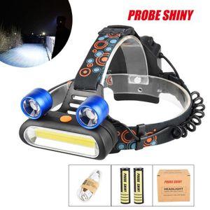 LAMPE DE POCHE 15000LM 2x XM-L T6 LED + COB Rechargeable 18650 Ph