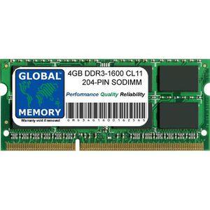 MÉMOIRE RAM 4Go DDR3 1600MHz PC3-12800 204-PIN SODIMM MÉMOIRE