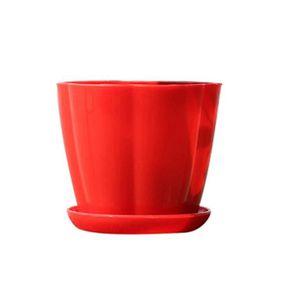 JARDINIÈRE - BAC A FLEUR Pot de fleurs en forme de citrouille en imitation