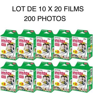 PAPIER PHOTO INSTANTANE  Fujifilm Instax Mini Film - Lot de 10 x 20 films