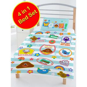 HOUSSE DE COUETTE Hey Duggee Ouah 4 en 1 Junior literie Bundle Set (