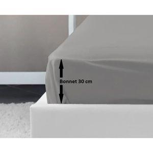 DRAP HOUSSE LOVELY HOME Drap Housse 100% coton 180x200x30 cm g