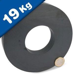 AIMANTS - MAGNETS Aimant Anneau magnétique en céramique - Ø 140 x 63