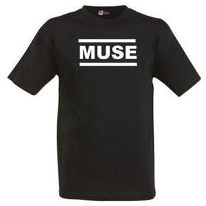 T-SHIRT T-shirt Noir Muse 100% Coton.