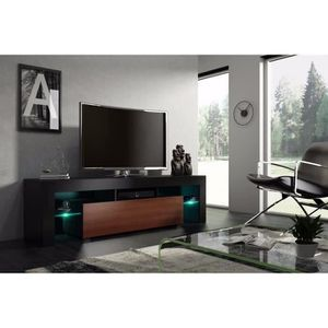 meuble tv noyer achat vente meuble tv noyer pas cher cdiscount. Black Bedroom Furniture Sets. Home Design Ideas