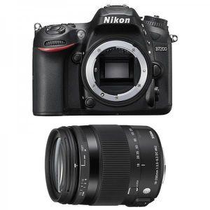 APPAREIL PHOTO RÉFLEX NIKON D7200 + SIGMA 18-200 F3,5-6,3 DC OS HSM Cont
