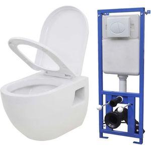 WC - TOILETTES Toilette murale avec réservoir de chasse caché Cér